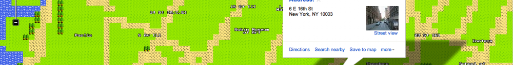 8-bit Dragon Quest Google Map!